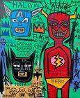 +Rare+Jean+Michel+Basquiat+Original++Vintage+Painting+%E2%80%9CFlash%E2%80%9D