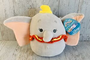 "Disney Dumbo 8"" Squishmallow Plush Elephant KellyToy NWT"