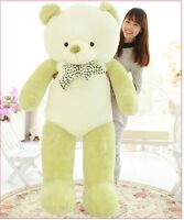 "63"" Huge Big Stuffed Animal Plush Soft Toy Green White Teddy Bear 160cm Doll New"
