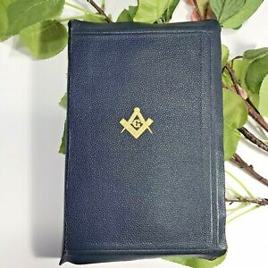 Vintage 1947 MASONIC HOLY BIBLE Contains Old and New Testament NICE!