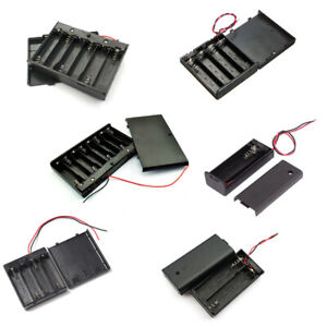 AA Battery Case Holder With Cover 1.5V 1X 2X 3X 4X AA Plastic storage Connector