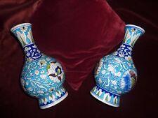 une fausse paire de vases iznik anciens H 30 cm