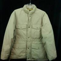 VTG Eddie Bauer Premium Goose Down Puffer Jacket Khaki Mens Large