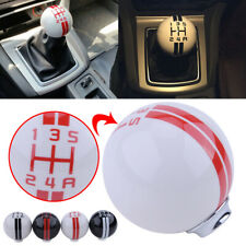 for ford Mustang GT500 5 Speed Manual Gear Shift Knob Shifter White Ball Handle
