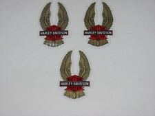 3 LOT HARLEY DAVIDSON B&S GOLD WING MINI DECALS STICKERS 2.25 X 1.25 (INSIDE)NEW