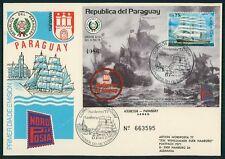 PARAGUAY 1977 SONDERBELEG HAMBURG NORDPOSTA WINDJAMMER SCHIFFE SHIPS z2284