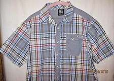 Mens Enyce Size L Short Sleeve Button Up Casual Shirt