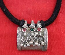 Old Silver Pendant Necklace Tribal Belly Dance Antique