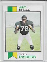1973 Topps Art Shell RC Oakland Raiders #77 HOF CLEAN HIGH GRADE