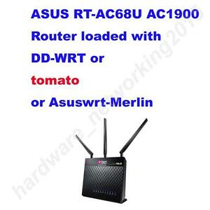 Asus RT-AC68U AC1900 Wireless Router DD-WRT or tomato or Asuswrt-merlin Firmware