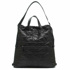 Michael Kors Winnie Large Quilted Nylon Black Convertible Drawstring Backpack