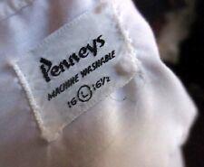 LARGE TRUE VTG 70s TOWNCRAFT WHITE POINT COLLAR ULTA THIN DRESS SHIRT