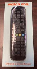 New ListingOnn Universal 6-Device Remote Control Tv Dvd Soundbar Streaming Box Dvr New