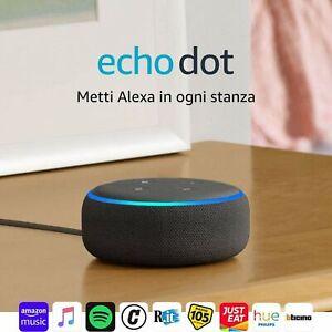 Echo Dot - Alto. intelligente con integrazione Alexa (3ª generazione) - Tessuto
