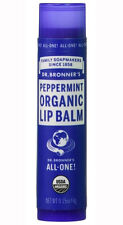 Dr Bronner's Magic All One Organic Lip Balm Peppermint 4g With Organic Beeswax