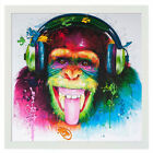 Peinture à l'Huile Tableau Abstraite Moderne Toile Gorille Coloré Mur Décoration