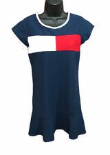 Tommy Hilfiger Logo Pieced Flag Pique Drop waist Dress Big Girls size XL (16)