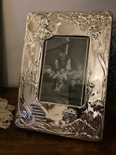 More details for a stunning large sterling silver photo / picture frame. free postage.