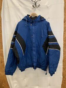 Vintage 90s Washington Capitals Hockey NHL XL Pullover Parka Jacket Coat