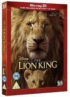 THE LION KING [Blu-ray 3D + 2D] 2019 Live Action Disney UK 3D Movie w/ Slipcover
