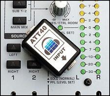 Attenuatore ATT40 AUDIO STEREO 40dB-ridurre il livello di linea a livello microfono