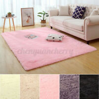 Fluffy Rugs Anti-Slip Shaggy Rug Super Soft Carpet Mat Living Room Floor Decor