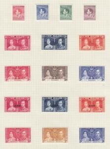 NEW GUINEA-N. RHODESIA COMMONWEALTH MIX(MK7120) VF-MH 1937 KGVI CORONATION ISSUE