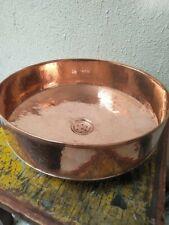 Handmade moroccan copper round sink 38cm diameter