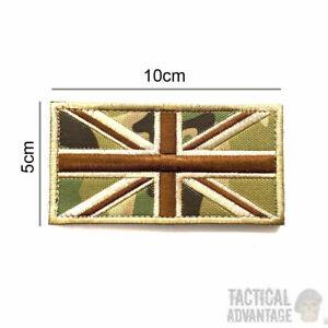 Multicam Camouflage Union Jack  Flag Morale Patch 10m x 5cm Hook Loop Airsoft UK