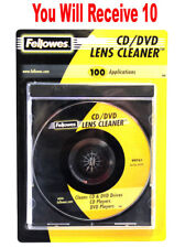 10x Fellowes CD Lens Cleaner DVD Disc Drive Xbox One Wii PS4 Micro-Thin Fibers