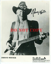 Johnny Winter Autographed 8x10 Signed Photo