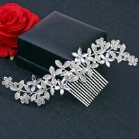 Wedding Hair Pins Bridal Diamante Crystal Slide Comb Bride Accessories Jewelry