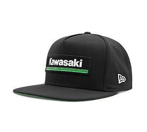 Kawasaki 3 Green Lines Black Hat by New Era K009-4070-BKNS