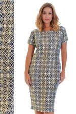 Knee Length Crew Neck Stretch Dresses for Women