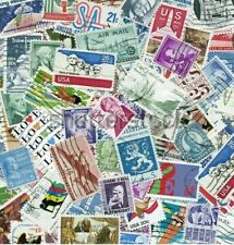 USED US Stamp Lot 100 Different Stamps 1930-1980s