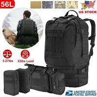 50L Tactical Military Outdoor Sports Rucksacks Backpack Hiking Camping Pouch US