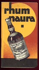 CARNET PUBLICITAIRE RHUM NAURA calendrier 1933 almanach 1933