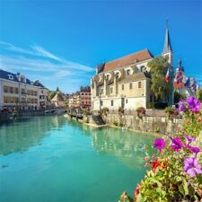 Annecy French Town City Photography Backgrounds 10x10ft Studio Backdrops Props