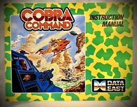 Cobra Command - Nintendo NES Manual Only - 1988 Data East