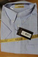 Roundtree & Yorke Men's Gold Label Shirt, Non Iron  Perfect Performance Blue