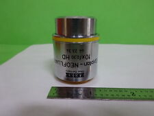 MICROSCOPE ZEISS GERMANY OBJECTIVE EPIPLAN NEOFLUAR 10X HD 442334 AS IS #AI-A-02