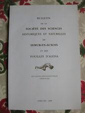 2008 Bulletin Société des Sciences Semur en auxois Fouilles Alesia Bourgogne
