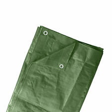 Abdeckplane Schutz Gewebe Plane PVC Garten Abdeckung Holz 6x3,5m Ösen grün