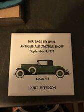 """Heritage Festival Antique Automobile Show Port Jefferson NY """"La Salle """" Tile"""
