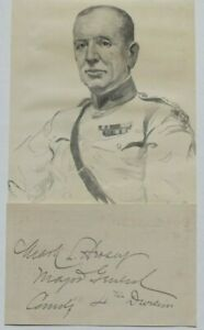 General Mark Hersey WWI US General AEF 4th Infantry Division Commander Autograph