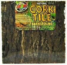 """LM Zoo Med Natural Cork Tile Terrarium Background Small - (12"""" Long x 12"""" Wide)"""
