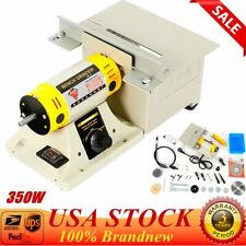 Mini Bench Lathe Machine Electric Grinder Polisher / Full Accessories 350W