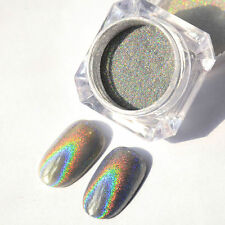 2g Holographic Laser Powder Nail Glitter Rainbow Pigment Manicure Chrome Pigment