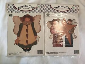 Ragamuffins Iron on Transfer Blessings Angel #4229 and Jesus is Born #4231 (1996