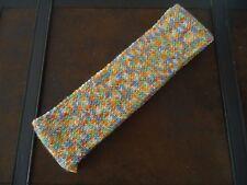 ECHARPE - MULTICOLORE - dim. 9 * 135 cm - acrylique - tricotée à la main